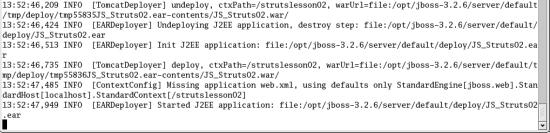 Struts lesson 2: JSP-files packed into an EAR (Enterprise